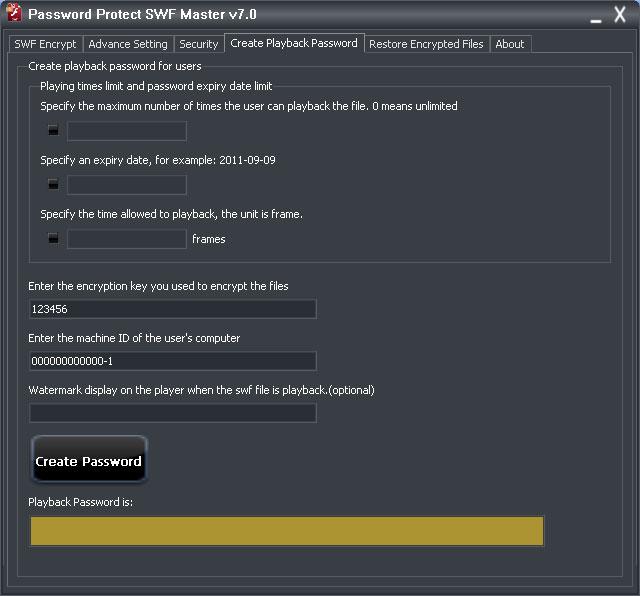 Password Protect SWF Master
