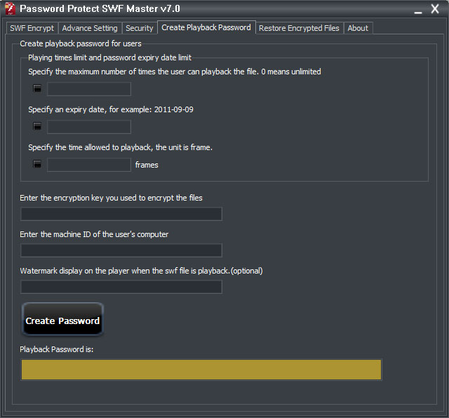 Password Protect SWF Master v8 0 - Convert swf to exe, protect swf